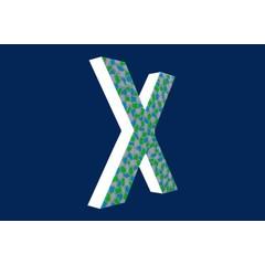Cristallo Design Fris, Letter X