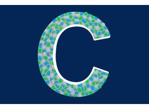 Cristallo Mozaiek pakket Letter C Fris