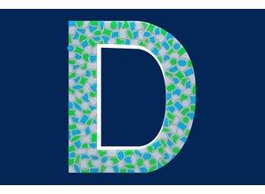 Cristallo Mozaiek pakket Letter D Fris