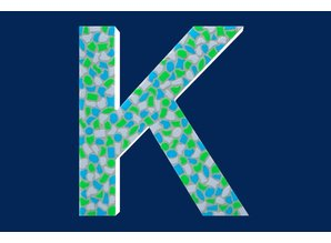 Cristallo Mozaiek pakket Letter K Fris