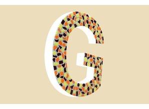 Cristallo Mozaiek pakket Letter G Warm