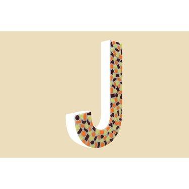 Cristallo Mozaiek pakket Letter J Warm