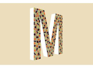 Cristallo Mozaiek pakket Letter M Warm