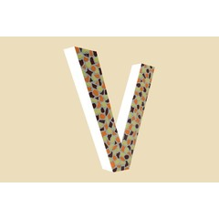 Cristallo Design Warm, Letter V