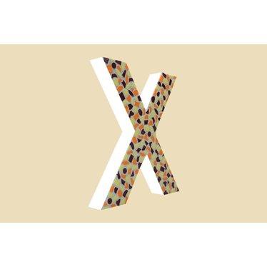 Cristallo Mozaiek pakket Letter X Warm
