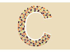 Cristallo Mozaiek pakket Letter C Warm
