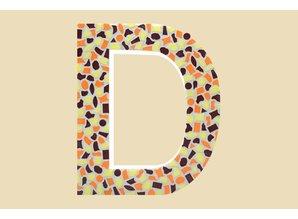 Cristallo Mozaiek pakket Letter D Warm