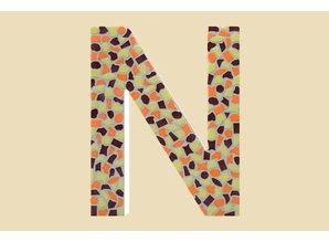 Cristallo Mozaiek pakket Letter N Warm
