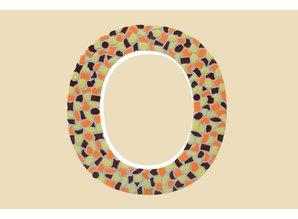 Cristallo Mozaiek pakket Letter O Warm