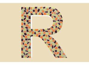 Cristallo Mozaiek pakket Letter R Warm