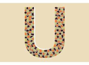 Cristallo Mozaiek pakket Letter U Warm