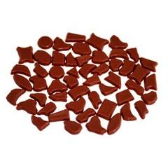 Cristallo Kunststof mozaiek-steentjes ca. 70 gram BRUIN