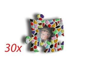 Cristallo Mini-fotolijstjes 30 stuks STER Mozaiek pakket MIX