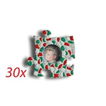 Cristallo Mini-fotolijstjes 30 stuks CIRKEL Mozaiek pakket KERST