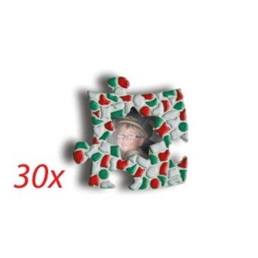 Cristallo Mini-fotolijstjes 30 stuks STER Mozaiek pakket KERST