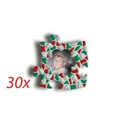 Cristallo Mini-fotolijstjes 30 stuks BLOEM mozaiekpakket KERST