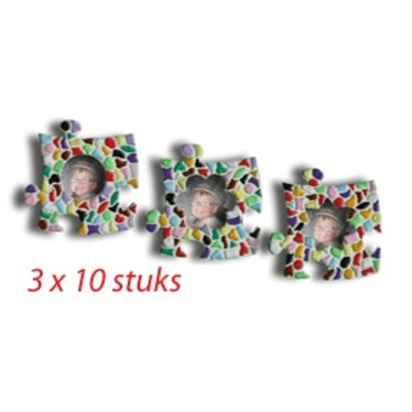 Cristallo Mini-fotolijstjes 3x10 stuks Mozaiek pakket MIX