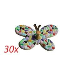 Cristallo Kledinghanger 30 stuks Vlinder mozaiekpakket