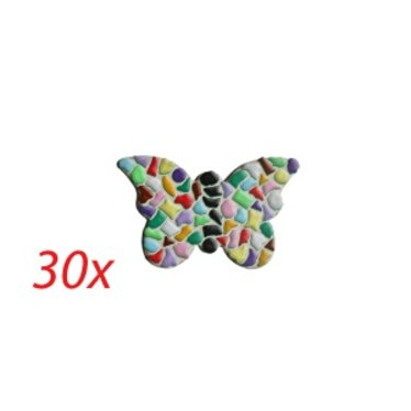 Cristallo VLINDER 30 stuks Mozaiek pakket