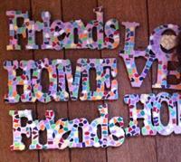 Kinderfeestje thuis mozaiek