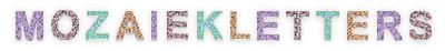 Mozaiek letters kinderfeestje thuis