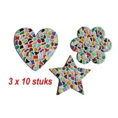 Cristallo HART/BLOEM/STER 3x10 stuks mozaiekpakket