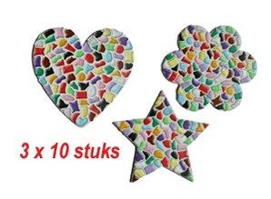 Cristallo HART/BLOEM/STER 3x10 stuks Mozaiek pakket