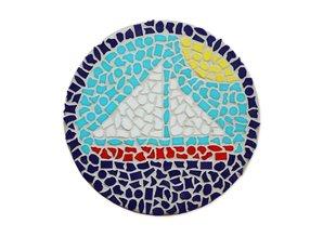 Cristallo Wandbord Mozaiek pakket Zeilboot