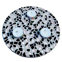 Cristallo Mozaiek pakket Waxinelichthouder Zwart-Wit