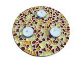 Cristallo Mozaiek pakket Waxinelichthouder Bruin-Oranje-Geel
