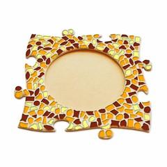 Cristallo Mozaïek pakket Fotolijst Cirkel Bruin-Oranje-Geel