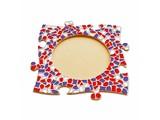 Cristallo Mozaïek pakket Fotolijst Cirkel Rood-Wit-Paars