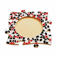 Cristallo Mozaïek pakket Fotolijst Cirkel Rood-Zwart-Wit