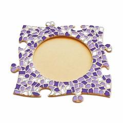 Cristallo Mozaïek pakket Fotolijst Cirkel Wit-Paars-Violet