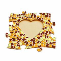 Cristallo Mozaïek pakket Fotolijst Hart Bruin-Oranje-Geel