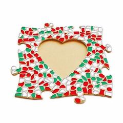 Cristallo Mozaïek pakket Fotolijst Hart Kerst