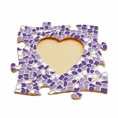 Cristallo Mozaïek pakket Fotolijst Hart Wit-Paars-Violet