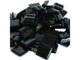 Cristallo Glas mozaiek steentjes 1x1 cm ca. 200 stuks Zwart
