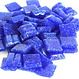 Cristallo Glas mozaiek steentjes 1x1 cm ca. 200 stuks Donkerblauw