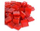 Cristallo Glas mozaiek steentjes 1x1 cm ca. 200 stuks Rood