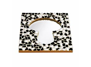 Cristallo Mozaiek pakket Spiegel Paddenstoel Zwart-Wit