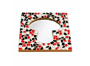 Cristallo Mozaiek pakket Spiegel DeLuxe Paddenstoel Rood-Zwart-Wit