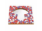 Cristallo Mozaiek pakket Spiegel Paddenstoel Rood-Wit-Paars