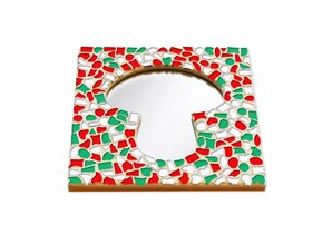 Cristallo Mozaiek pakket Spiegel DeLuxe Paddenstoel Kerst