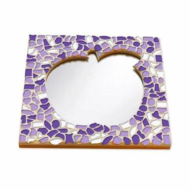 Cristallo Mozaiek pakket Spiegel Appel Wit-Paars-Violet