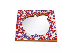 Cristallo Mozaiek pakket Spiegel DeLuxe Appel Rood-Wit-Paars