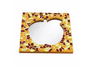 Cristallo Mozaiek pakket Spiegel DeLuxe Appel Bruin-Oranje-Geel