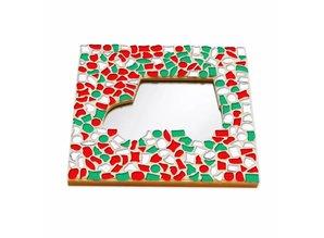 Cristallo Mozaiek pakket Spiegel DeLuxe Auto Kerst