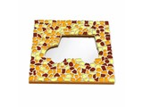Cristallo Mozaiek pakket Spiegel Auto Bruin-Oranje-Geel