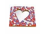 Cristallo Mozaiek pakket Spiegel Hart Rood-Wit-Paars